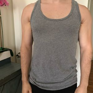 Saks Fifth Ave - Grey Tank Top w/ Colorful Fleck